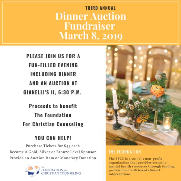 third annual dinner auction fundraiser christian counseling associates