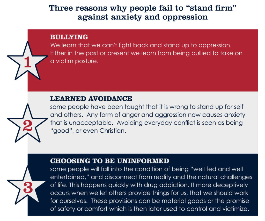 "Three reasons why people fail to ""stand firm"" against anxiety and oppression"
